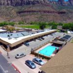 Hotel with Pool Zion Utah Downtown Springdale affordable rooms zion national park Zion National Park Motel Zion Park Motel